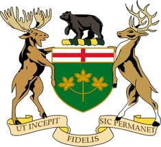 Coat of Arms of Ontario, Canada I Am Canadian, Canadian History, Canadian Flags, Oakville Ontario, Canada Eh, Canada Ontario, Flags Of The World, Family Crest, Crests