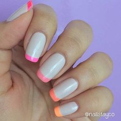 French Tip with a Twist (Perfect for Summer!)