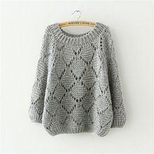 2015 otoño nuevas mujeres suéter tamaño grande batwing manga del cuello de O loose suéter de punto y para mujer ahueca hacia fuera el [] #<br/> # #Manga,<br/> # #Of #Agujas,<br/> # #Boleros,<br/> # #Done,<br/> # #Ponchos,<br/> # #Winter<br/>