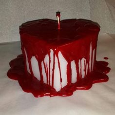 Bleeding Heart Candle, Valentines Day Candle, Gothic Candle, Bloody Heart Candle by CozyCustomCandles on Etsy Red Aesthetic, Aesthetic Grunge, Aesthetic Photo, Aesthetic Pictures, Character Aesthetic, Pretty Cakes, Cute Cakes, Wie Macht Man, Think Food