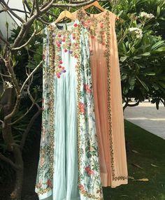 uit. – FashionVibes /// Thread embroidery on georgette suit. – FashionVibes