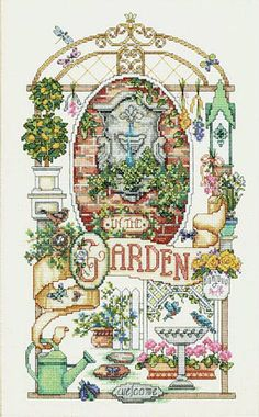 Counted Cross Stitch In The Garden Sunset by Dimensions Designed by Linda Gillum / Kooler Design Studio