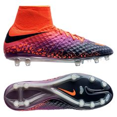 590a971e6 Nike Hypervenom Phantom II FG Soccer Cleats (Total Crimson Obsidian Vivid  Purple) · Football ...