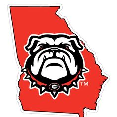 Georgia Bulldogs Logo And Uniforms Illustration