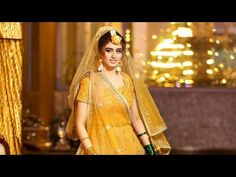 here brides to be can find the pattern, shade and texture of haldi costume. Mehendi, Brides, Sari, Texture, Costumes, Youtube, People, Pattern, Wedding