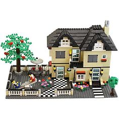 816 Piece Toy Family Cottage Themed Interconnecting Building Block Set with Yard, Garden, Figurines and Other Fun Assorted Pieces by Dimple, http://www.amazon.com/dp/B00K1G1D6I/ref=cm_sw_r_pi_awdm_x_3TF4xbB0R90B2