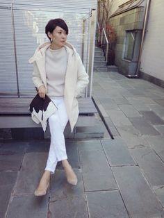 田丸麻紀『Maki's wardrobe』 in 2020 Denim Fashion, Fashion Pants, Fashion Outfits, Womens Fashion, Fashion Fashion, Mom Outfits, Fall Outfits, Japanese Fashion, Daily Fashion
