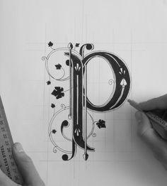 hand lettering ben johnston P