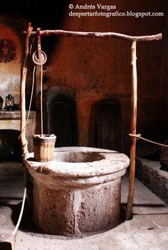 Pozo ubicado en el interior de la cocina. Arequipa:  Monasterio de Santa Catalina de Siena
