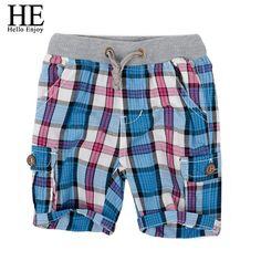 808782730 HE Hello Enjoy boys shorts 2018 fashion plaid baby boys shorts summer  children chothing kids pants