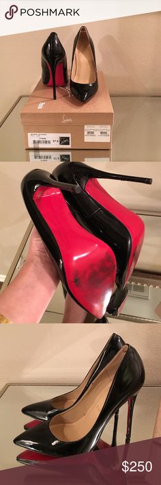 Christian Louboutin Pigalle 120 patent Only worn a few times no scuffs besides the soles. Shoe box not included only the dust bag. Christian Louboutin Shoes Heels
