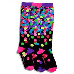 Gumball Smelly Knee High Socks  Who says you can't have gum in school???  LittleMissMatched