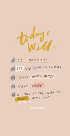 A good five-step reminder when you're having a tough day! quotes quotes about love quotes for teens quotes god quotes motivation Hope Quotes, Self Love Quotes, Faith Quotes, Today Quotes, Everyday Quotes, Inspirational Quotes For Today, Be Good Quotes, Inspirational Phrases, Reminder Quotes