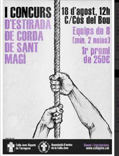 """""""I Concurs d'Estirada de Corda de Sant Magí"""" d'Edu Polo. Colla Jove Xiquets de Tarragona."""