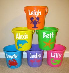 Easter Egg Hunt Buckets Kim could we do this with the Cricut? Birthday Brunch, 6th Birthday Parties, Easter Brunch, Easter Party, Boy Birthday, Birthday Ideas, Little Mermaid Birthday, Little Mermaid Parties, Hoppy Easter