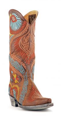The perfect pair of cowboy boots for fall!! Womens Old Gringo Tiegan Cowboy Boots Brass #L1371-1