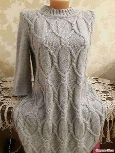 23774542_82184 (525x700, 301Kb) Knit Cardigan Pattern, Sweater Knitting Patterns, Coat Patterns, Cable Knitting, Knitting Stitches, Knitwear Fashion, Knit Fashion, Knitted Coat, How To Purl Knit