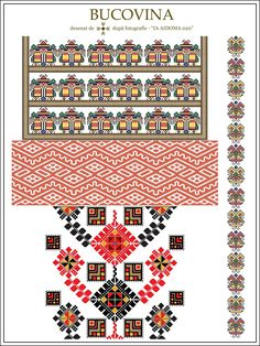 Semne Cusute: IA AIDOMA 020 - Bucovina, ROMANIA Folk Embroidery, Cross Stitch Embroidery, Embroidery Patterns, Beading Patterns, Cross Stitch Patterns, Folk Clothing, Embroidery Techniques, Textile Patterns, Pixel Art