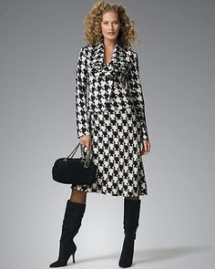 5958f647a23 adorable houndstooth outfit would look great with a crimson jewlery set and  purse Houndstooth Dress