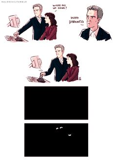 """Twelfth Doctor funny with Clara. Great joke on the Doctor Who season 8 trailer <<--Clara: """"We are not amused"""""""