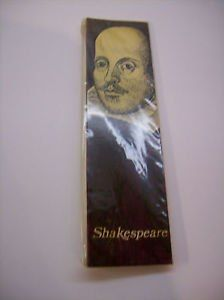 ENGLISH SIR.WILLIAM SHAKESPEARE  12 INCHES MATCHCOVER ENGLAND