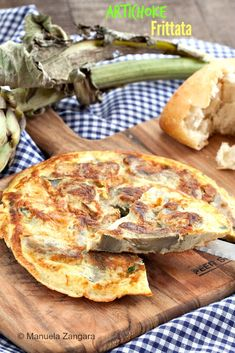 Artichoke Frittata - a quick and easy authentic Italian recipe! Easter Recipes, Brunch Recipes, Breakfast Recipes, Easter Ideas, Real Food Recipes, Great Recipes, Vegetarian Recipes, Favorite Recipes, Chef Dishes