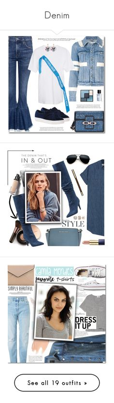 """Denim"" by bine-jan ❤ liked on Polyvore featuring Citizens of Humanity, Givenchy, Yves Saint Laurent, Burberry, Nude by Nature, Madewell, GUESS, MICHAEL Michael Kors, Rampage and Clarins"