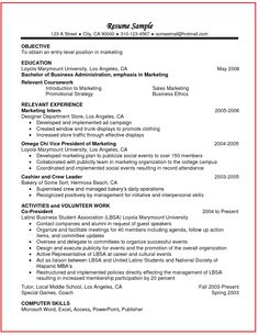 College Student Resume Template  Cover Latter Sample