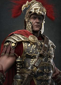 Damon Woods : Keyshot Clay renders of The Centurion. This character is featured in the cover of Artist Magazine Issue Rome Antique, Art Antique, 3d Fantasy, Fantasy Armor, Ancient Rome, Ancient History, Zbrush, Roman Armor, Roman Centurion