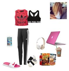 Chilling alone by myself by yahiness on Polyvore featuring polyvore, fashion, style, adidas, NIKE, Speck and clothing
