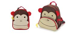 Monkey Backpack and Lunch Box