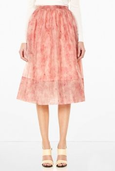 Vienna Flamingo Feather Full Skirt by Whistles