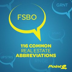 116 common real estate abbreviations for buyers, sellers and agents