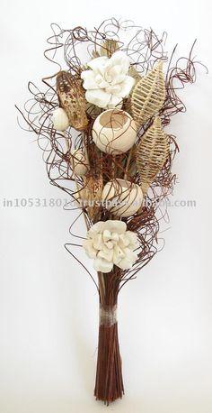dried flower arrangement for a centerpiece idea. Dried Flower Bouquet, Flower Vases, Silk Flowers, Dried Flowers, Flower Art, Tall Floral Arrangements, Beautiful Flower Arrangements, Floor Vase Decor, Vases Decor