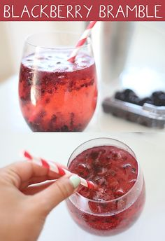 Signature Cocktail. Sub Gin for Vodka Blackberry Bramble Recipe