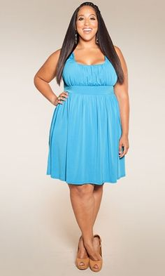 $59.90 the Essential Tank Dress (Seaside Shades) from SWAK Designs