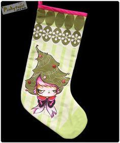 christmas tree hat girl stocking 2 pinkytoast 2010