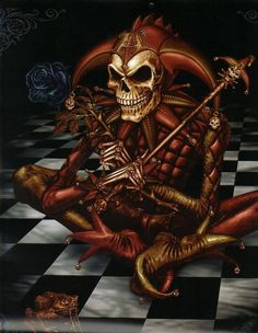 Dark Jesters in art are often associated with Death.