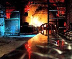 bacardi bar party new Orleans. brick wall