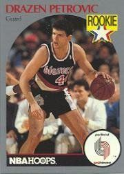 1990-91 Hoops #248 Drazen Petrovic RC by Hoops. $0.39. 1990 Fleer Inc. trading card in near mint/mint condition, authenticated by Seller