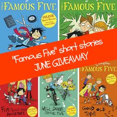 Win 5 Famous Five colour Short Stories: with up-to-date illustrations, these are a perfect introduction to Enid Blyton's adventures for readers aged Shed Colours, Color Shorts, Good Old, Children's Books, Short Stories, Parenting Hacks, Giveaways, Competition, June
