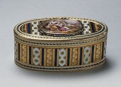 Snuffbox.Maker: Jean Marie Tiron (called Tiron de Nanteuil) (French, active 1748–73, died 1793 (?)) Artist: After a painting by François Boucher (French, Paris 1703–1770 Paris) Date: 1767–68