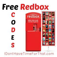 Also check out the list of all the other Redbox codes available! Never pay for a DVD rental again!