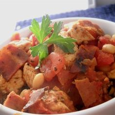 Easy and Delicious Slow Cooker Cassoulet Allrecipes.com....an easy take on the French Classic.....but American style and in the crock pot.  Bon Apetit!!