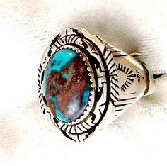 Bisbee Turquoise Mens Ring