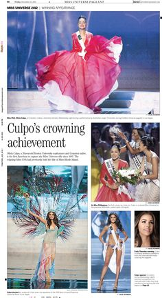 Here's The Providence Journal's keepsake page on Rhode Island's own Olivia Culpo - Miss Universe!