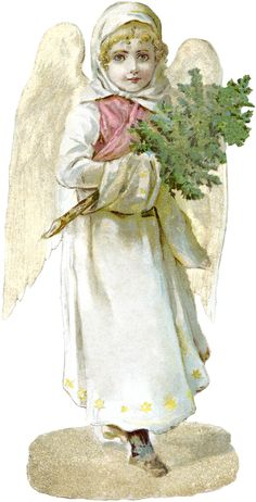 Free Victorian Angel Image vintage freebie Christmas printable