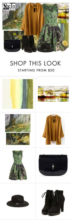 """Knit Khaki Coat from Sheinside"" by gabriele-bernhard ❤ liked on Polyvore featuring мода, Evive Designs, Parvez Taj, NOVICA, Sheinside и shein"