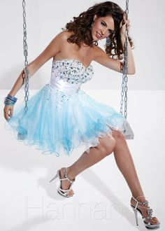 Hannah S 27782 Turquoise Dress