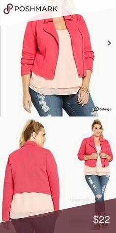 Shop Women's torrid Pink size Blazers at a discounted price at Poshmark. Description: Torrid Pink Moto Jacket SIZE New w/tags. Blazer Suit, Suit Jacket, Cheap Clothes, Moto Jacket, Fashion Tips, Fashion Design, Fashion Trends, Torrid, Blazers